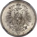 1 Mark 1873-1887, KM# 7, Germany, Empire, William I