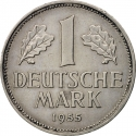1 Deutsche Mark 1950-2001, KM# 110, Germany, Federal Republic