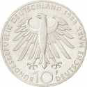 10 Deutsche Mark 1988, KM# 169, Germany, Federal Republic, 100th Anniversary of Death of Carl Zeiss