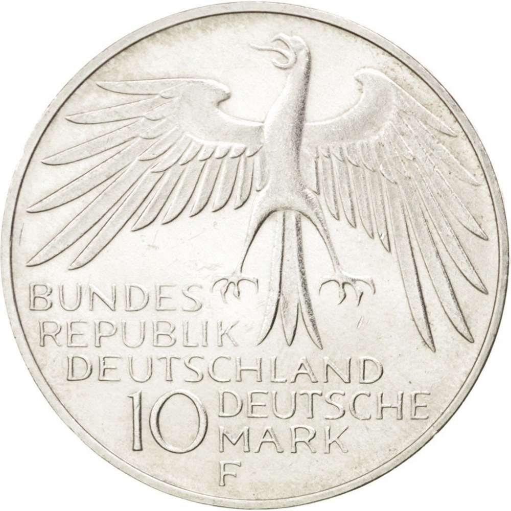 10 Deutsche Mark 1972, KM# 133, Germany, Federal Republic, Munich 1972 Summer Olympics, Olympiastadion in Munich