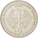 2 Deutsche Mark 1990-2001, KM# 175, Germany, Federal Republic, Anniversary of the Federal Republic of Germany, 40th Anniversary of the West Germany