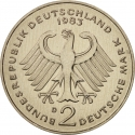 2 Deutsche Mark 1969-1987, KM# 124, Germany, Federal Republic, Anniversary of the Federal Republic of Germany, 20th Anniversary of the West Germany
