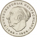 2 Deutsche Mark 1970-1987, KM# A127, Germany, Federal Republic, Anniversary of the Federal Republic of Germany, 20th Anniversary of the West Germany