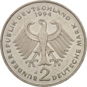 2 Deutsche Mark 1994-2001, KM# 183, Germany, Federal Republic, Anniversary of the Federal Republic of Germany, 45th Anniversary of the Federal Republic of Germany