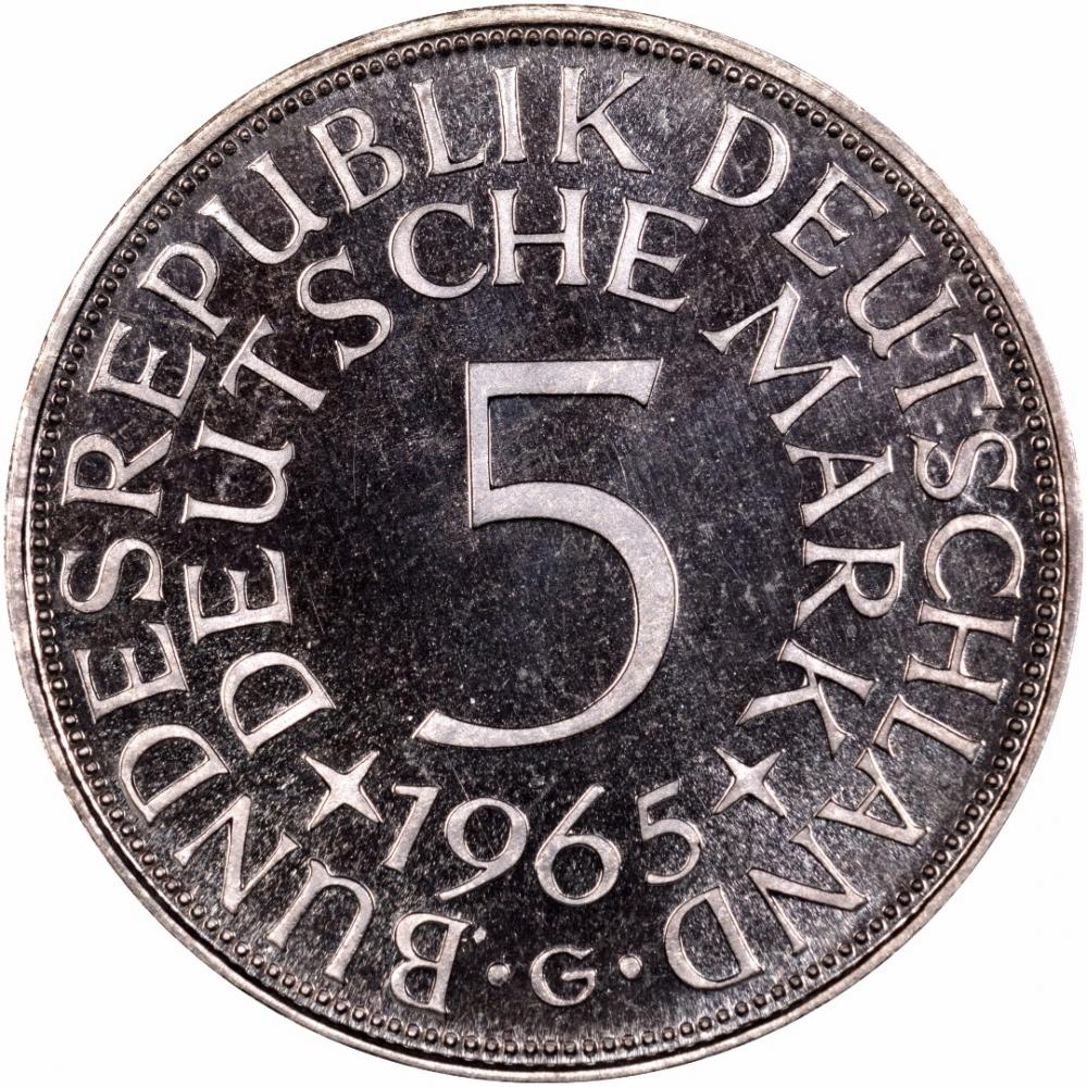 5 deutsche mark germany federal republic 1951 1974 km. Black Bedroom Furniture Sets. Home Design Ideas