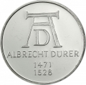 5 Deutsche Mark 1971, KM# 129, Germany, Federal Republic, 500th Anniversary of Birth of Albrecht Dürer