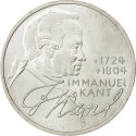 5 Deutsche Mark 1974, KM# 139, Germany, Federal Republic, 250th Anniversary of Birth of Immanuel Kant