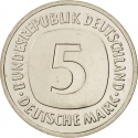 5 Deutsche Mark 1975-2001, KM# 140.1, Germany, Federal Republic