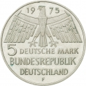 5 Deutsche Mark 1975, KM# 142, Germany, Federal Republic, European Year of Monument Protection