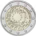 2 Euro 2015, KM# 339, Germany, Federal Republic, 30th Anniversary of the Flag of Europe