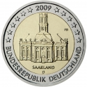 2 Euro 2009, KM# 276, Germany, Federal Republic, German Federal States, Saarland