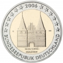 2 Euro 2006, KM# 253, Germany, Federal Republic, German Federal States, Schleswig-Holstein