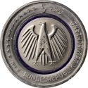 5 Euro 2016, KM# 348, Germany, Federal Republic, Planet Earth