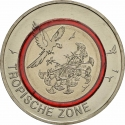 5 Euro 2017, KM# 357, Germany, Federal Republic, Climate Zones of the Earth, Tropical Zone