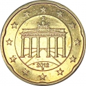 20 Euro Cent 2007-2017, KM# 255, Germany, Federal Republic