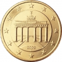 50 Euro Cent 2002-2006, KM# 212, Germany, Federal Republic