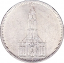 5 Reichsmark 1934-1935, KM# 83, Germany, Nazi (Third Reich), Potsdam Garrison Church