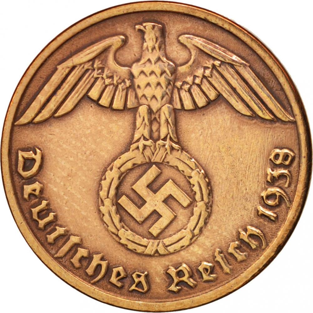 1 Reichspfennig Germany Nazi Third Reich 1936 1940 Km 89