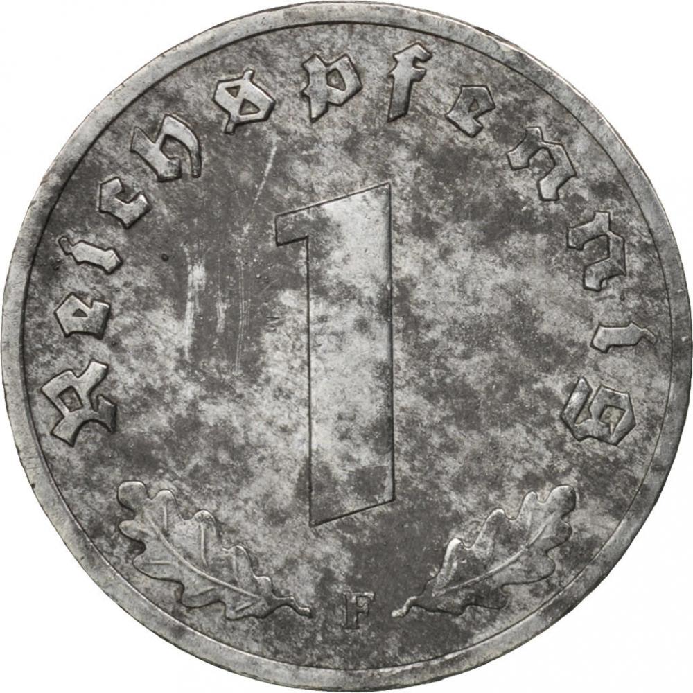1 Reichspfennig Germany Nazi Third Reich 1940 1945 Km 97