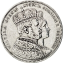 1 Thaler 1861, KM# 488, Prussia, William I, Coronation of William I and Augusta