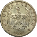 3 Reichsmark 1931-1933, KM# 74, Germany, Weimar Republic