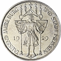 5 Reichsmark 1929, Germany, Weimar Republic, 1000th Anniversary of Meissen