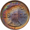 1 Reichspfennig 1924-1936, KM# 37, Germany, Weimar Republic