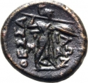 1 Trichalkon 150-101 BC, BCD# Thessaly II 898.5, Thessalian League