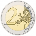 2 Euro 2015, KM# 272, Greece, 30th Anniversary of the Flag of Europe
