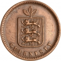 2 Doubles 1858, KM# 4, Guernsey