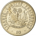 10 Centimes 1975-1983, KM# 120, Haiti, Food and Agriculture Organization (FAO)