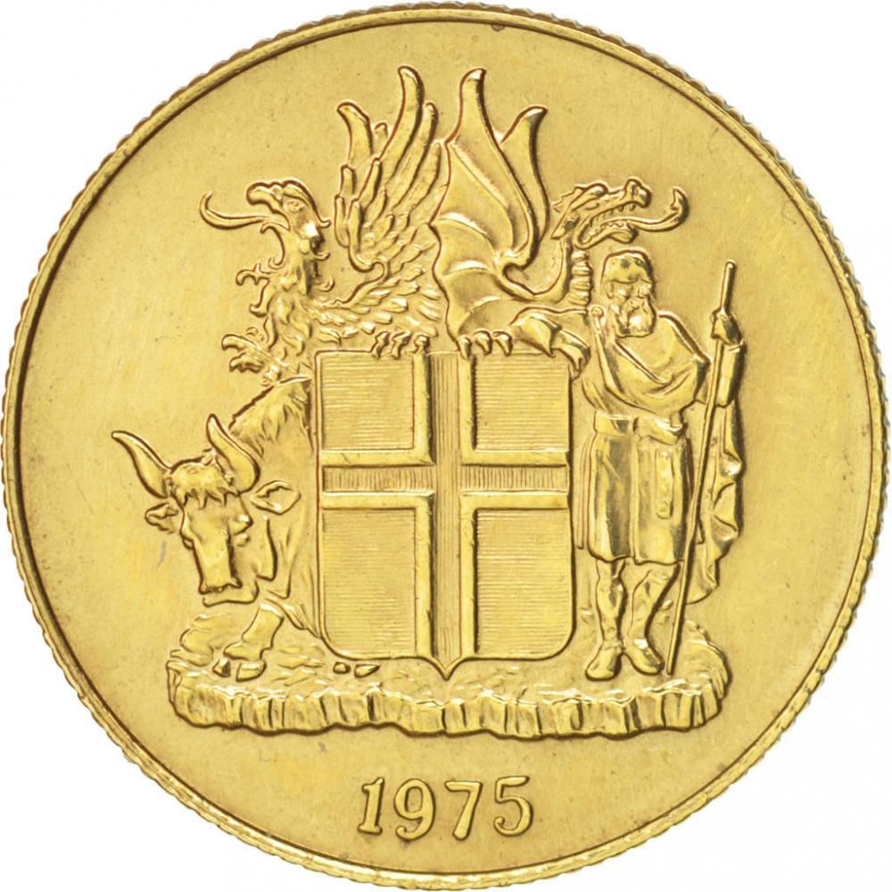 1 Krona Iceland 1957 1975 Km 12a Coinbrothers Catalog