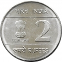 2 Rupees 2009, KM# 368, India, Republic, 200th Anniversary of Birth of Louis Braille