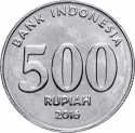 500 Rupiah 2016, KM# 73, Indonesia, National Hero, Tahi Bonar Simatupang