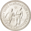 1 Crown 1984, KM# 118, Isle of Man, Elizabeth II, 1984 Olympic Games, Los Angeles 1984 Summer Olympics, Athletics