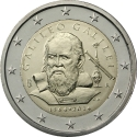 2 Euro 2014, KM# 377, Italy, 450th Anniversary of Birth of Galileo Galilei