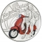 5 Euro 2019, Italy, 75th Anniversary of the Vespa, Red