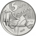 5 Euro 2019, Italy, 75th Anniversary of the Vespa, White