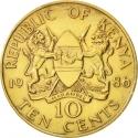 10 Cents 1978-1991, KM# 18, Kenya