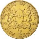 5 Cents 1978-1991, KM# 17, Kenya