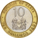 10 Shillings 1994-1997, KM# 27, Kenya