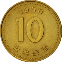 10 Won 1983-2006, KM# 33, Korea, South
