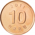 10 Won 2006-2016, KM# 103, Korea, South