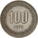 100 Won 1970-1982, KM# 9, Korea, South