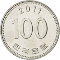 100 Won 1983-2017, KM# 35, Korea, South