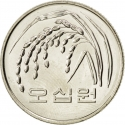 50 Won 1983-2017, KM# 34, Korea, South
