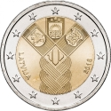 2 Euro 2018, Latvia, 100th Anniversary of Independence of the Baltic States