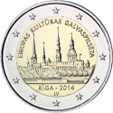 2 Euro 2014, KM# 158, Latvia, European Capital of Culture, Riga 2014