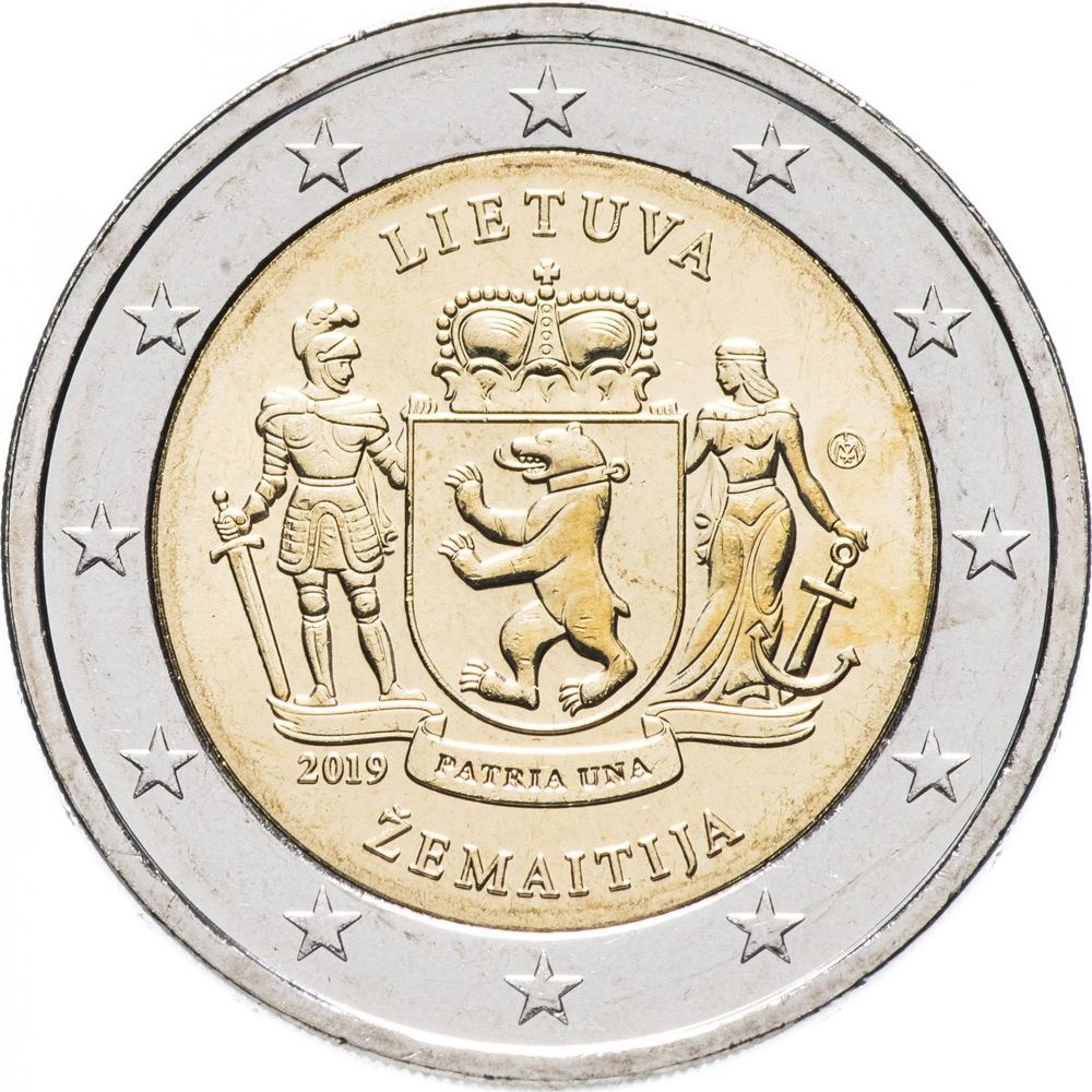 2 Euro 2019, Lithuania, Lithuanian Ethnographic Regions, Žemaitija