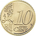10 Euro Cent 2015-2018, KM# 208, Lithuania
